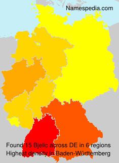 Surname Bjelic in Germany