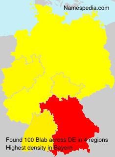 Surname Blab in Germany