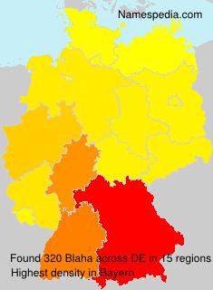 Surname Blaha in Germany