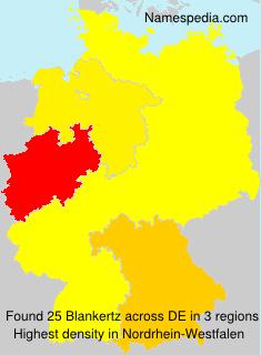 Familiennamen Blankertz - Germany