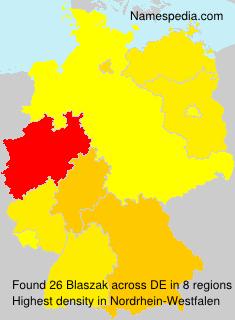 Surname Blaszak in Germany