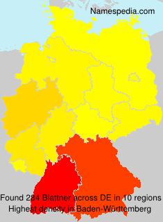 Familiennamen Blattner - Germany