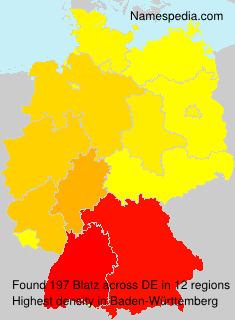 Surname Blatz in Germany