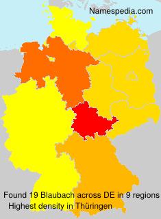 Familiennamen Blaubach - Germany