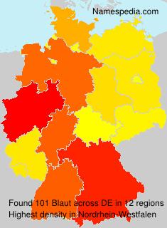 Familiennamen Blaut - Germany