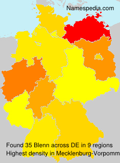 Familiennamen Blenn - Germany