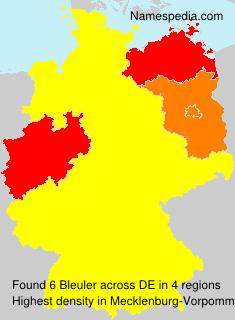 Surname Bleuler in Germany