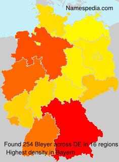 Surname Bleyer in Germany