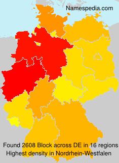 Familiennamen Block - Germany