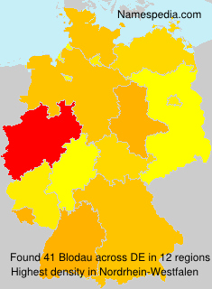 Surname Blodau in Germany
