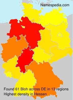 Familiennamen Bloh - Germany