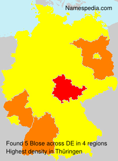 Familiennamen Blose - Germany