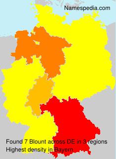 Surname Blount in Germany