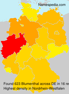 Surname Blumenthal in Germany
