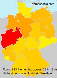 Familiennamen Blumenthal - Germany