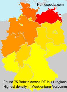 Surname Bobzin in Germany