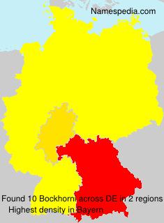 Familiennamen Bockhorni - Germany