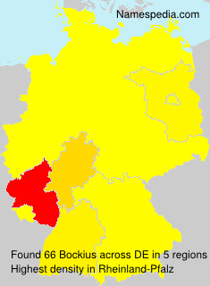 Surname Bockius in Germany