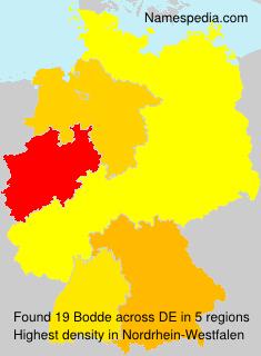 Surname Bodde in Germany