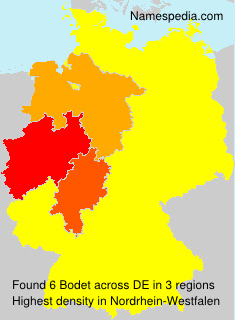 Surname Bodet in Germany