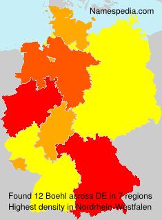 Familiennamen Boehl - Germany