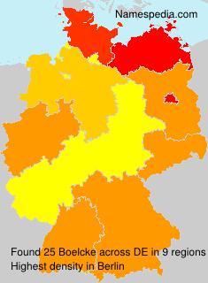 Surname Boelcke in Germany