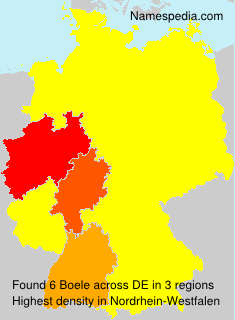 Surname Boele in Germany