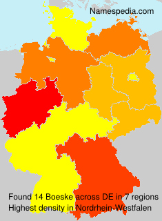 Surname Boeske in Germany