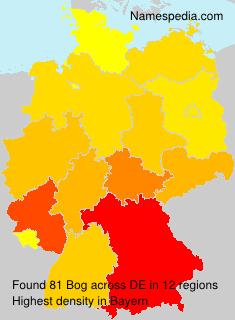 Surname Bog in Germany