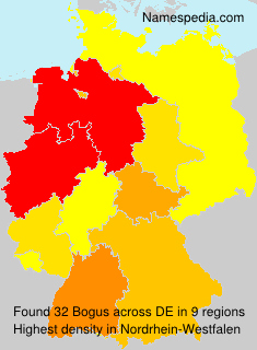 Familiennamen Bogus - Germany