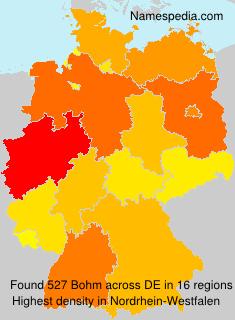 Surname Bohm in Germany