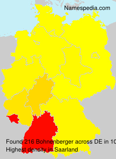 Surname Bohnenberger in Germany