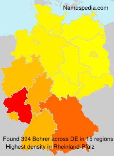 Surname Bohrer in Germany