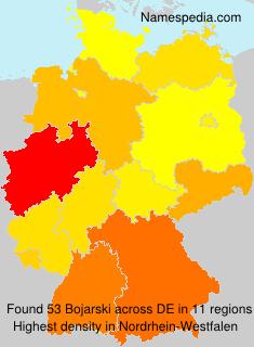 Surname Bojarski in Germany