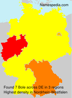 Familiennamen Bole - Germany