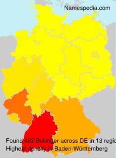 Familiennamen Bollinger - Germany