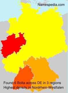 Surname Bolta in Germany