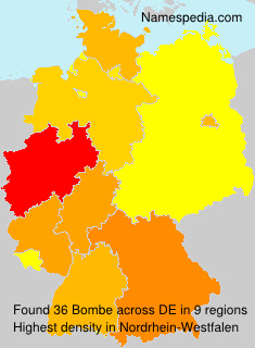 Familiennamen Bombe - Germany