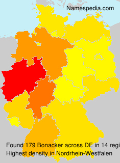 Surname Bonacker in Germany