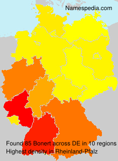 Familiennamen Bonert - Germany