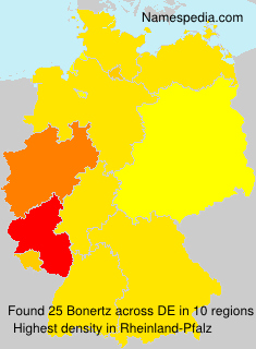Familiennamen Bonertz - Germany