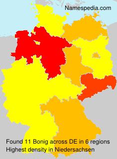 Surname Bonig in Germany