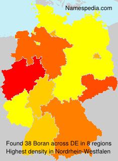 Surname Boran in Germany