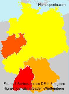 Familiennamen Borbas - Germany