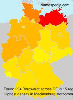 Surname Borgwardt in Germany
