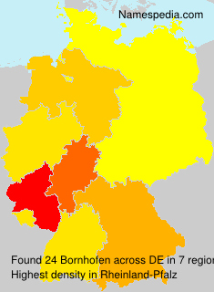 Surname Bornhofen in Germany