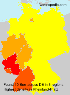 Surname Borr in Germany