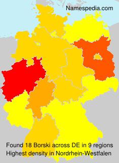 Familiennamen Borski - Germany