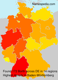 Surname Borth in Germany