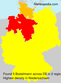 Familiennamen Bostelmann - Germany